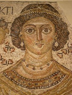 Fragment of a Floor Mosaic with a Personification of Ktisis Byzantine 500-550 CE (2)