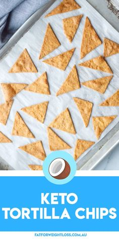 These keto tortilla chips tastes just as good and even looks so much like the real thing, but with less carbs and zero guild with every crunch. Low Carb Bread, Low Carb Keto, Keto Carbs, Keto Bread, Sugar Free Recipes, Low Carb Recipes, Keto Snacks, Snack Recipes, Easy Recipes