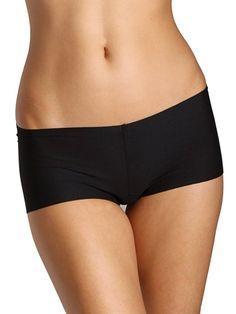 Commando Women's Cotton Boy Shorts, Black, S/M