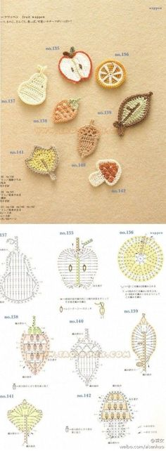 Luty Artes Crochet: Frutinhas em Crochê+ Gráficos.