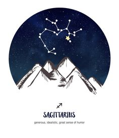 Sagittarius ~ generous, idealistic, great sense of humor