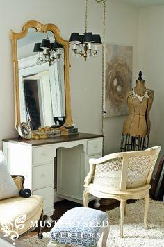 cream cane chair - mustard seed interiors