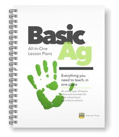 *Basic Ag High School, All-In-One Lesson Plans Ag Science, Plant Science, Animal Science, Life Science, Computer Science, Forensic Science, Student Teaching, Teaching Resources, Teaching Ideas