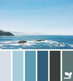Sea Blues via @designseeds