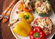 Mexican Stuffed Peppers from @La Preferida; Repin and leave a comment to win a prize from #RecipeLion