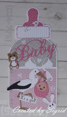 Homemade Greeting Cards, Greeting Cards Handmade, Baby Shower Cards, Baby Shower Invitations, Baby Mini Album, Shower Bebe, Marianne Design, Minnie Mouse Party, Baby Scrapbook