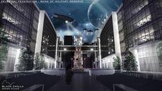 Celestial Federation - Bank of Military Reserve - Conceptual Project by architect Mateusz Wielgus || http://www.behance.net/gallery/Celestial-Federation-Bank-of-Military-Reserve/11610529 || #architecture #design #project #architektura #bank #businesscenter || Contact us: kontakt@blackchilla.pl