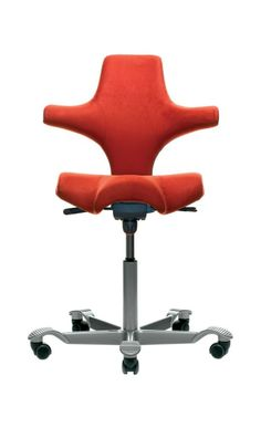 Izzy Design, HAG Capisco Saddle Chair with Back and No Headrest