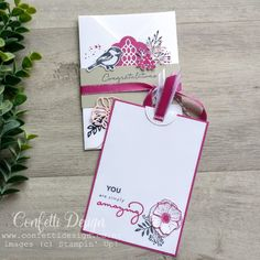 Petal Palette is such a versatile sweet set and coordinates here with lots of other stamp sets and dies. The pocket and insert are super easy and fast to make using the Envelope Punch Board. However the base is not really seen, it's all about how it's decorated. #handmadecard #confettidesign #prettythingsmadefrompaper #petalpalette