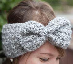 Free on Ravelry - 1-2-3 Bow Headband, de Keiko Emily. http://www.ravelry.com/patterns/library/1-2-3-bow-headband