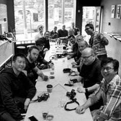#vancouver #camera #geeks #meetup at #cafe #revolver #thorstenovergaardworkshop @revolvercoffee #leica some time ago. Back in Canada in September