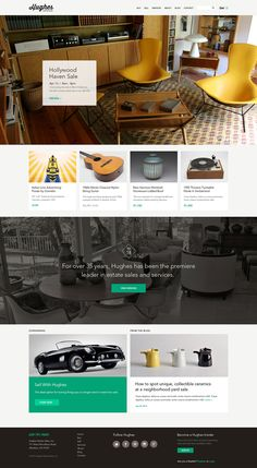 Hughes Estate Sales by TRÜF Creative, via Behance