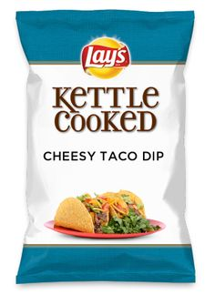 Wouldn't CHEESY TACO DIP be yummy as a chip? Lay's Do Us A Flavor is back, and the search is on for the yummiest flavor idea. Create a flavor, choose a chip and you could win $1 million! https://www.dousaflavor.com See Rules.