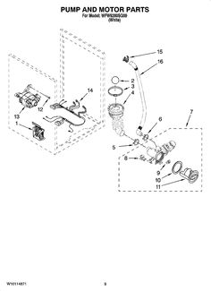 a full parts list and diagrams of the whirlpool washer and all other major appliances