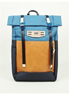 Master Piece Blue Cordura Hedge Satchel Bag Oki Ni on nuji.com