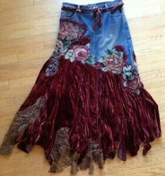 2019 The post 2019 appeared first on Lace Diy. Lace Jeans, Denim And Lace, Jeans Gown, Altered Couture, Recycled Fashion, Recycled Denim, Diy Clothing, Sewing Clothes, Denim Fashion