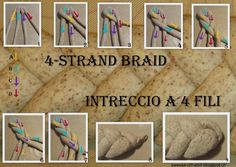 Sweet and That's it: Braiding a 4 Strand Bread - Intrecciare una Treccia con 4 Capi 4 Strand Braids, Princess Party, The 4, Party Ideas, Bread, Baking, Sweet, Candy, Brot