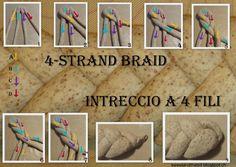 Sweet and That's it: Braiding a 4 Strand Bread - Intrecciare una Treccia con 4 Capi