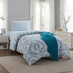 Montoya 16-Piece Twin/Twin XL Comforter Set in Teal