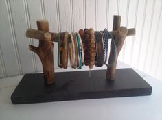 Unique Rustic Bracelet Display Stand by SilverSoupJewelry on Etsy, $20.00