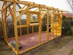 Diy Gartenhaus Selber Bauen Mit Dem Fertigen Standerwerk Steht Das