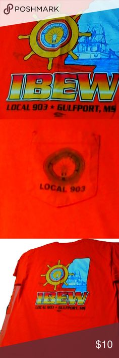 International Brotherhood of Electrical Workers International Brotherhood of Electrical Workers Local 903 Gulfport, Ms Has a small stain on front. Very Hard to see. Union Made in the USA Shirts Tees - Short Sleeve Usa Shirt, Union Made, Ms, Man Shop, Sleeve, Closet, Shirts, Things To Sell, Manga