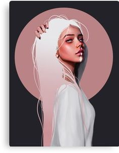 Millions of unique designs by independent artists. Find your thing.You can find illustration art girl and more on our website.Millions of unique des. Digital Art Girl, Digital Portrait, Portrait Art, Art And Illustration, Illustrations, Portrait Illustration, Fantasy Kunst, Fantasy Art, Drawn Art