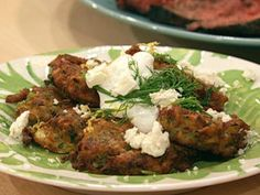 Michael Symon's Zucchini Fritters with Feta and Dill