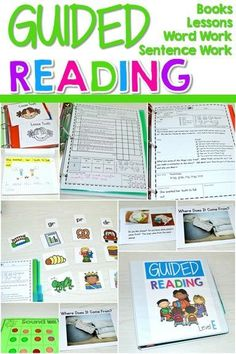 This bundle will include 48 printable leveled readers (6 for each level), lesson plans, word work and more! This resource includes everything you need to conduct small guided reading groups with your Level AA-G readers.  EACH LEVEL includes: *SIX leveled