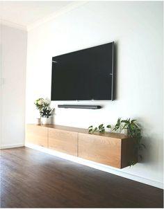 Simple & clean, no cords, no mess✔. Simple & clean, no cords, no mess✔️ Floating Entertainment Unit, Tv Unit Decor, Living Room Tv, Living Room Tv Unit, Living Room Entertainment Center, Living Room Designs