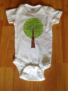 #grandpa #grampa #gramps #newgrandpa #newborn #babygift #gift #parents #dad #lovemydad #daddy #newborn #fathersday #father Fruit of the spirit baby onesie tree scripture by WhimsyOnesie, $14.50