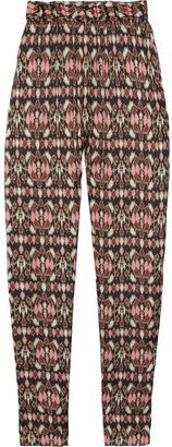 ShopStyle: Helene Berman Printed satin pants