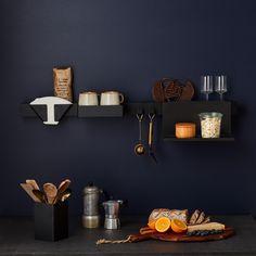 Gejst Introduces the Flex Line of Wall-Mounted Storage (Design Milk) Odense, Bright Homes, Storage Design, Nordic Design, Kitchenette, Storage Shelves, Wall Colors, Storage Solutions, Floating Shelves