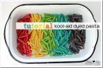 create kiddo: Kool-Aid Dyed Pasta