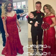 Plus Size Women Mermaid Prom Dresses 2018 Sexy Off Shoulder Red Lace Appliques Beading Floor Length Formal Evening Dress Celebrity Gown