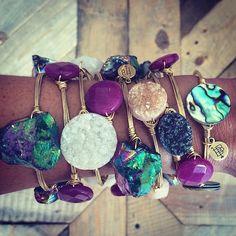 Jewelry Crafts, Jewelry Box, Jewelry Accessories, Jewelry Making, Bourbon And Bowties, Wire Wrapped Bangles, Diamond Are A Girls Best Friend, Wedding Jewelry, Bangle Bracelets