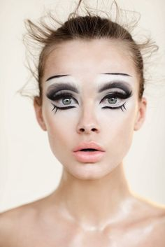 Black and white mime makeup.
