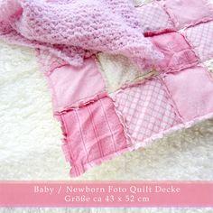 Fotoalbum & Gästebuch - Newborn Quilt Decke Rose  - ein Designerstück von Schnoerkelwerk bei DaWanda