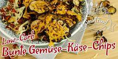 Bunte Gemüse-Käse-Chips – ein gesunder Low-Carb Snack