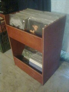 Diy Vinyl Record Crate My Kinda Stuff Pinterest Crates