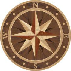 Sailors Compass Medallion Inlay With North Nautical Quilt, Nautical Design, Mariners Compass, Compass Design, Compass Rose, Marble Floor, Barn Quilts, Floor Design, Wood Veneer