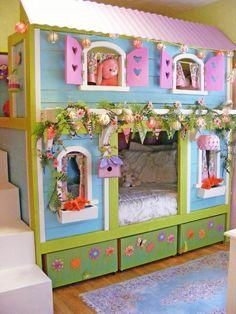 originelles hausmodell vom hochbett für mädchen (Cool Rooms For Kids)