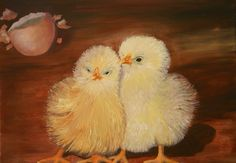 Two's Company, 2014 - 11x14 oil on canvas, in the collection of Debra & Ted Cambell.