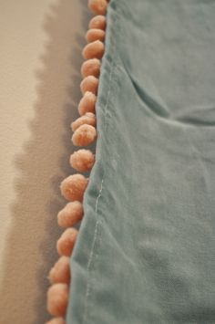 Peach pompom trim sewed on IKEA turquoise velvet curtains Pom Pom Curtains, Cool Curtains, Curtains With Blinds, Ikea Curtains, Pom Poms, Baby Boy Rooms, Little Girl Rooms, Interior Windows, Velvet Curtains