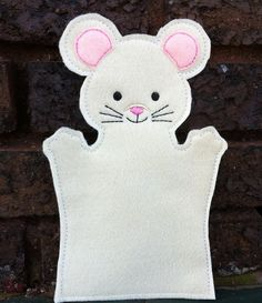 Mouse  Pet Set  Animal Felt Hand Puppet by ThatsSewPersonal, $10.00