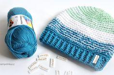 Obyčejná homeleska v melíru · Návody háčkování Krampolinka Knitted Hats, Crochet Hats, Winter Hats, Beanie, Knitting, Fashion, Knitting Hats, Moda, Tricot