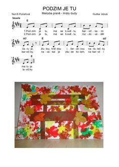PODZIM JE TU Kids Songs, School Classroom, Op Art, Kindergarten, Crafts For Kids, Preschool, Autumn, Children, Piano
