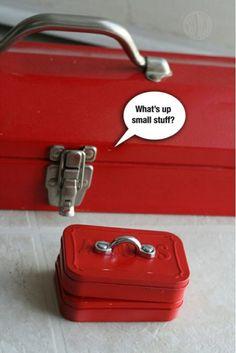 Another use for an empty Altoids tin…. teeny-tiny tool box.