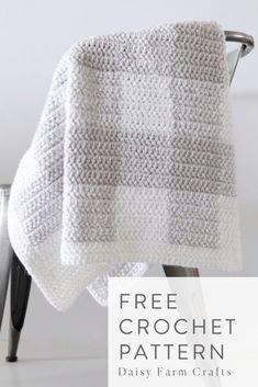 Ideas Crochet Blanket Girl Pattern Yarns For 2019 Crochet Afghans, Modern Crochet Blanket, Crochet Stitches For Blankets, Baby Girl Crochet Blanket, Crochet Blanket Patterns, Baby Patterns, Crochet Baby, Crochet Gifts, Afghan Patterns