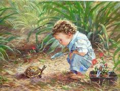 Amazing Pastel Paintings of Children by Kathy Fincher..♥ - Club Drawings Paintings
